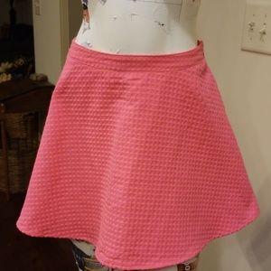 L'amour Nanette Lepore Large Pink Textured Skirt
